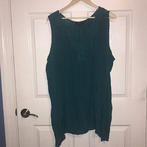 Tunic top blue / green 3x